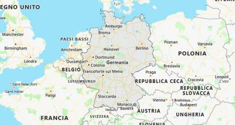 Dortmund Germania Cartina.Berlino Incaravan Club